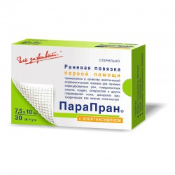 Повязка, р. 7.5смх10см №30 парапран с хлоргексидином