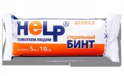 Бинт стерильный, Хелп р. 5мх10см 36 г/м кв.
