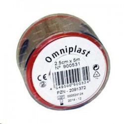 Пластырь фиксирующий, Омнипласт р. 2.5смх5м №1 арт. 900531 из текстильной ткани телесный